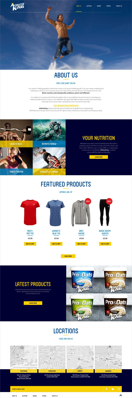 Website design - Athlete King